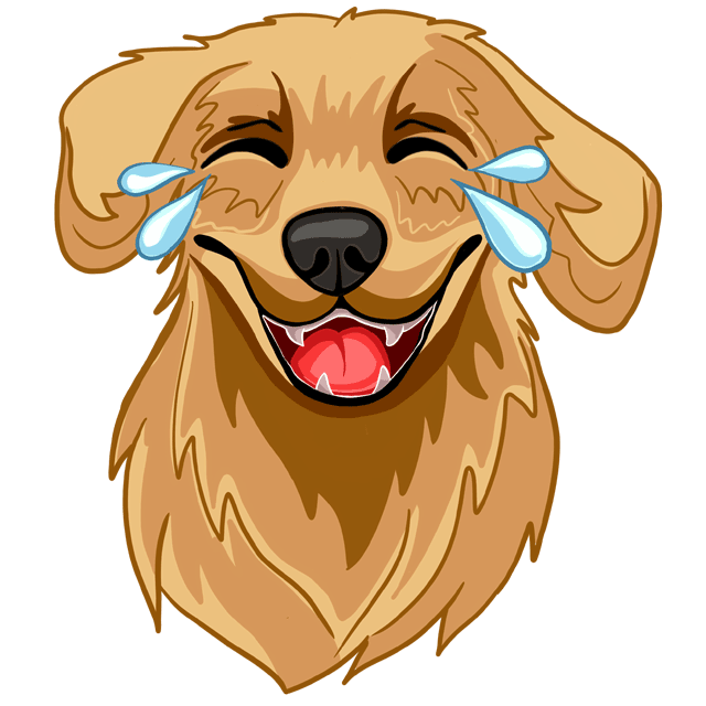 RadarMojis - Golden Retriever messages sticker-6