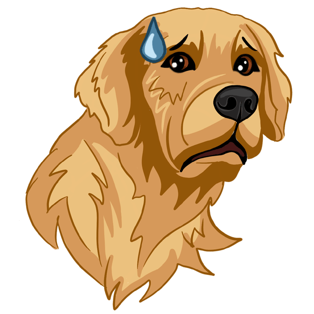 RadarMojis - Golden Retriever messages sticker-7