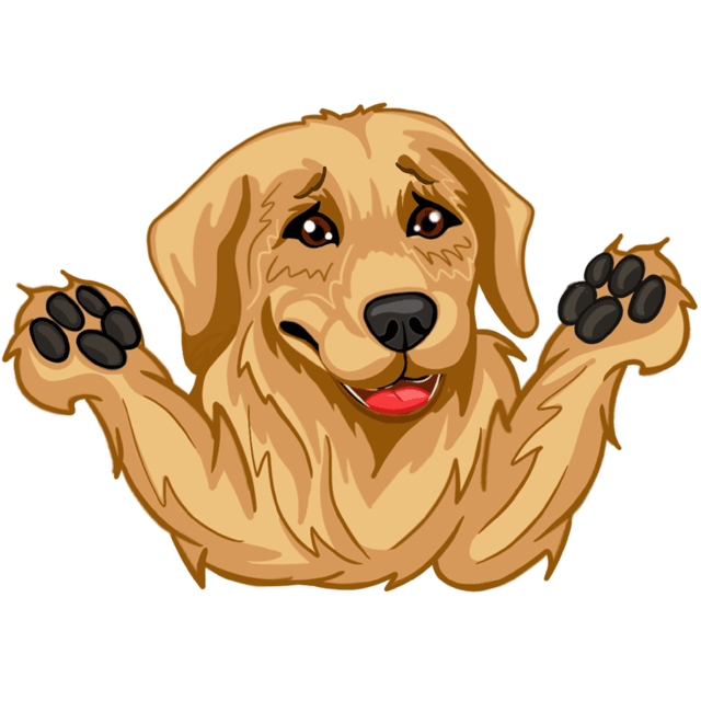 RadarMojis - Golden Retriever messages sticker-9