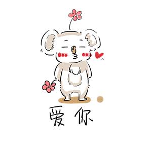 White Small Koala messages sticker-11