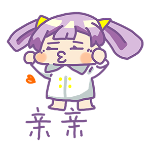 Purple Hair Little Girl messages sticker-7