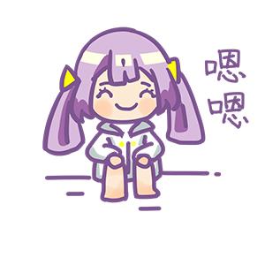 Purple Hair Little Girl messages sticker-3