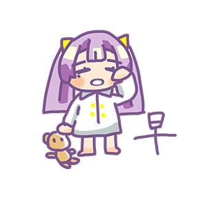 Purple Hair Little Girl messages sticker-1