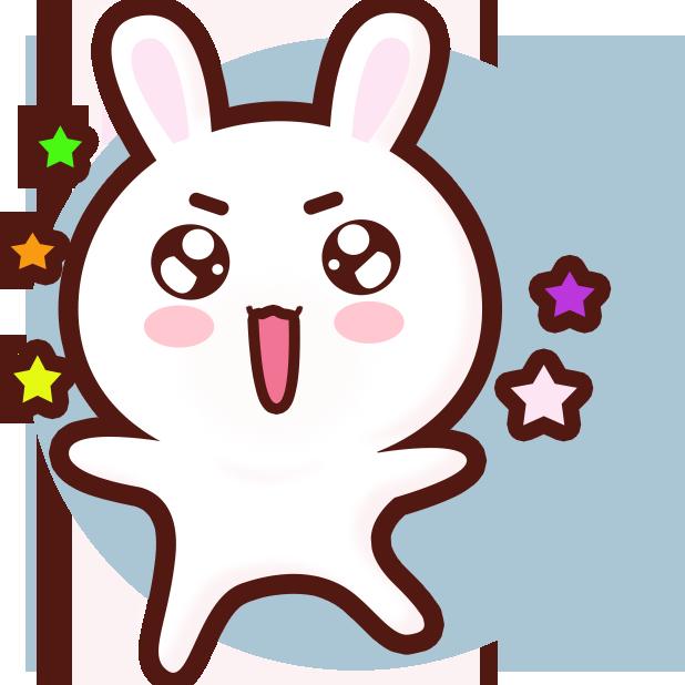 GC Rabbit messages sticker-10