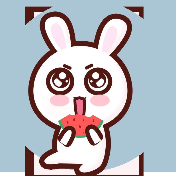 GC Rabbit messages sticker-2