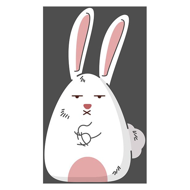 Fat rabbit long ears messages sticker-10