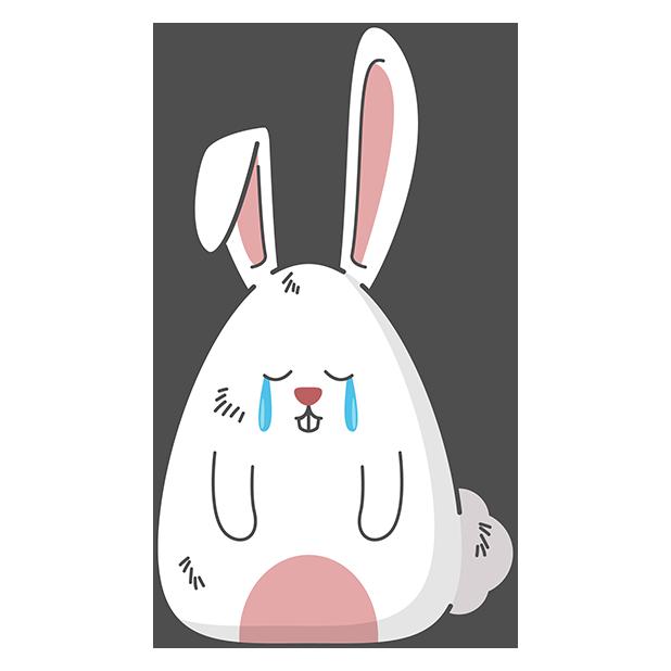 Fat rabbit long ears messages sticker-5
