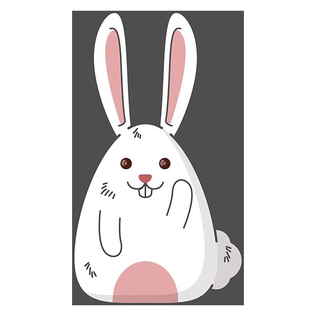 Fat rabbit long ears messages sticker-6