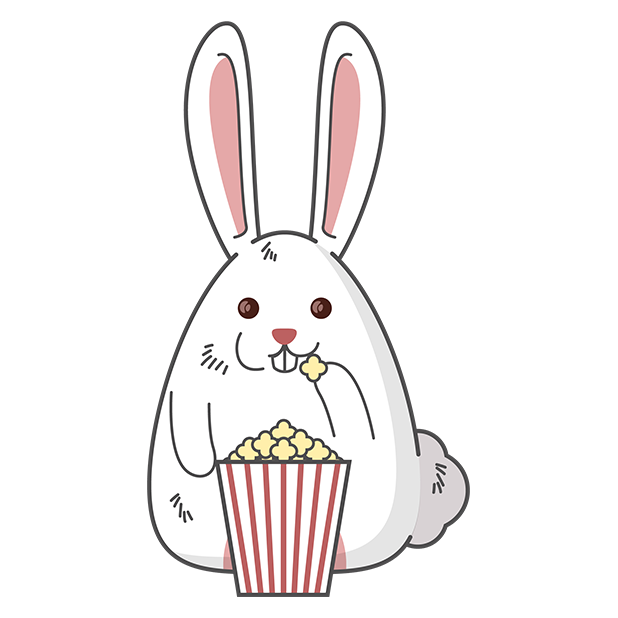 Fat rabbit long ears messages sticker-4