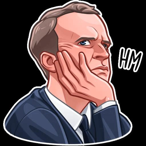 E. Macron Stickers messages sticker-8