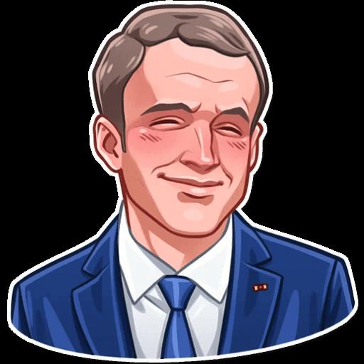 E. Macron Stickers messages sticker-7