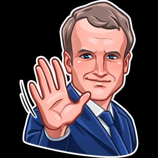 E. Macron Stickers messages sticker-4