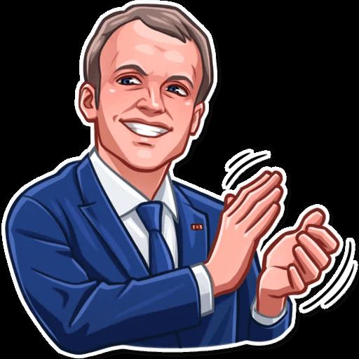 E. Macron Stickers messages sticker-9