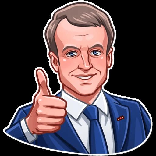 E. Macron Stickers messages sticker-2
