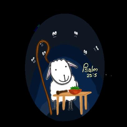 SheepsFaith: Psalm 23 messages sticker-10