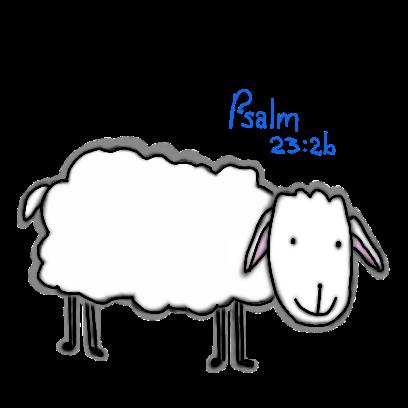 SheepsFaith: Psalm 23 messages sticker-5