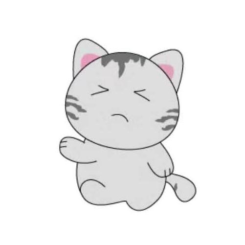 天空之猫Emoji messages sticker-8