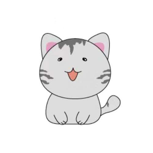 天空之猫Emoji messages sticker-2