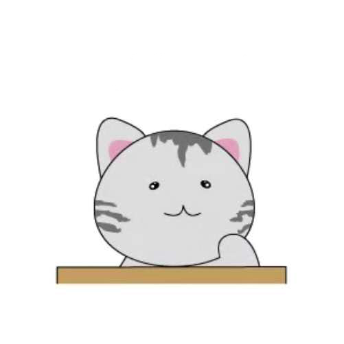 天空之猫Emoji messages sticker-3