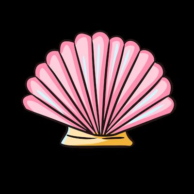 Cute Seashell Sticker messages sticker-5
