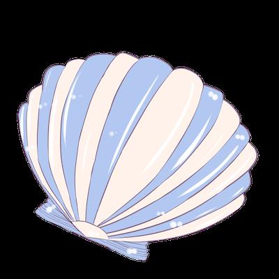 Cute Seashell Sticker messages sticker-11