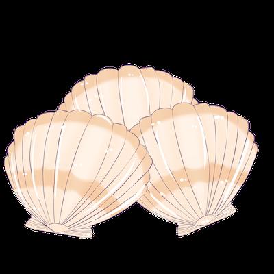 Cute Seashell Sticker messages sticker-0