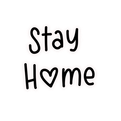 Stay Home Stickers messages sticker-11
