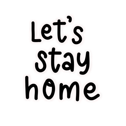 Stay Home Stickers messages sticker-0