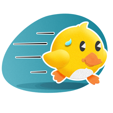 Duckling Duck messages sticker-9