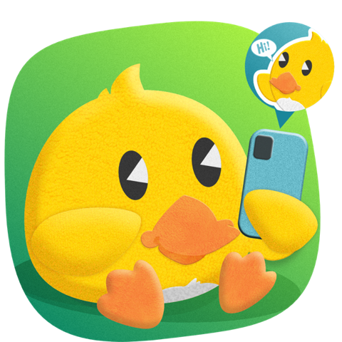 Duckling Duck messages sticker-1