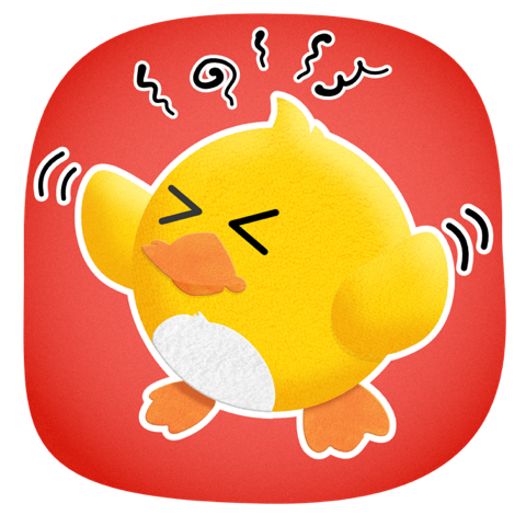 Duckling Duck messages sticker-11