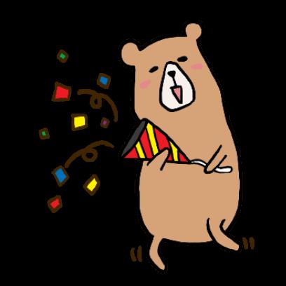 くまさんのステッカー kumasan sticker messages sticker-8