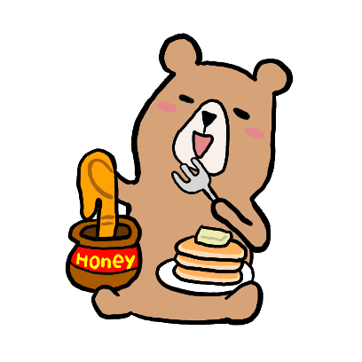 くまさんのステッカー kumasan sticker messages sticker-3