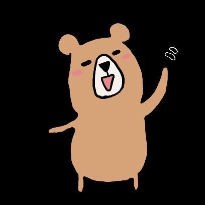 くまさんのステッカー kumasan sticker messages sticker-1