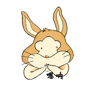 Funny rabbit messages sticker-3
