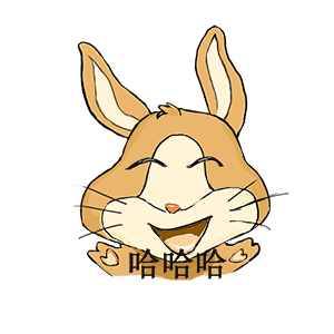 Funny rabbit messages sticker-7