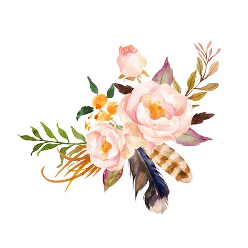 酷爱水墨花-Ink Flowers messages sticker-2
