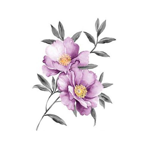 酷爱水墨花-Ink Flowers messages sticker-0