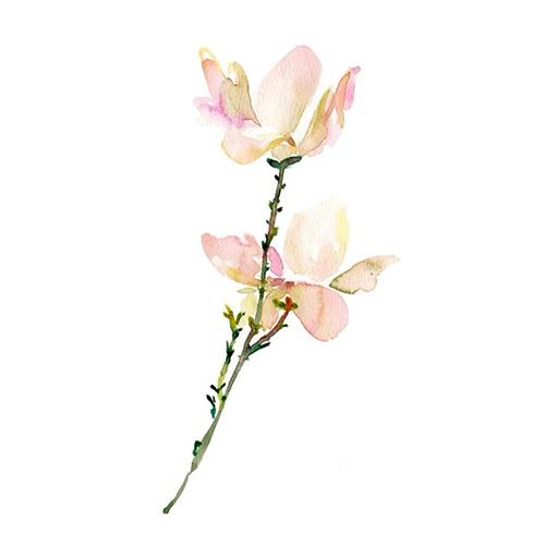 酷爱水墨花-Ink Flowers messages sticker-8