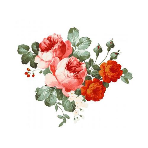 酷爱水墨花-Ink Flowers messages sticker-1