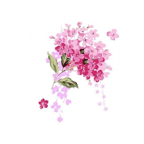酷爱水墨花-Ink Flowers messages sticker-4