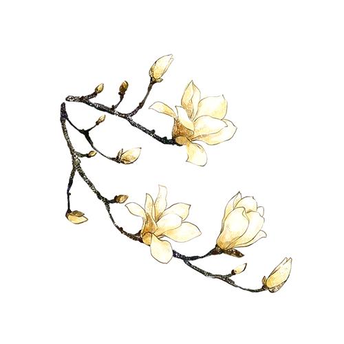 酷爱水墨花-Ink Flowers messages sticker-10