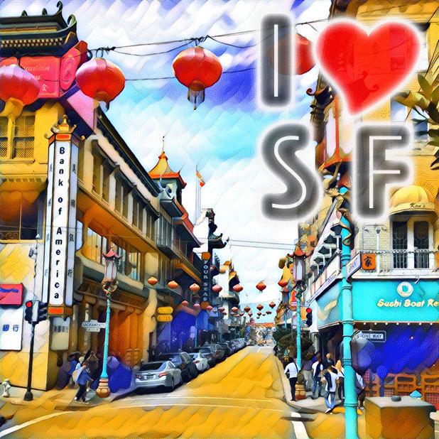 I Love San Francisco messages sticker-4
