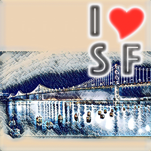 I Love San Francisco messages sticker-1
