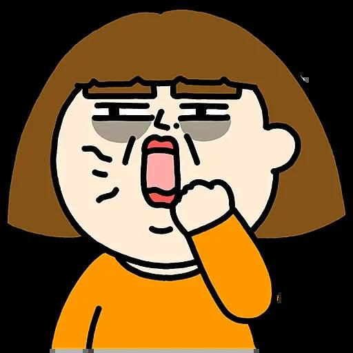 胖娃日常生活趣味贴纸 messages sticker-0