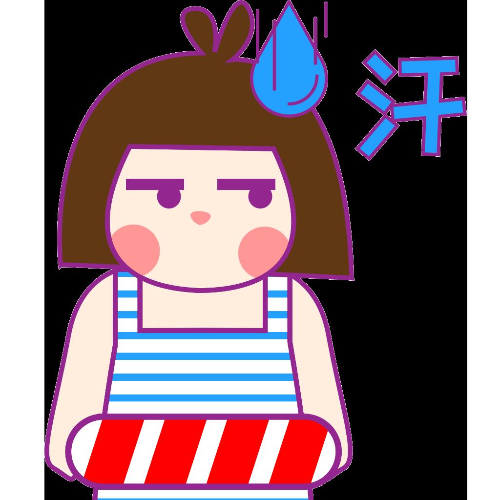 游泳妹兰毛毛 messages sticker-1
