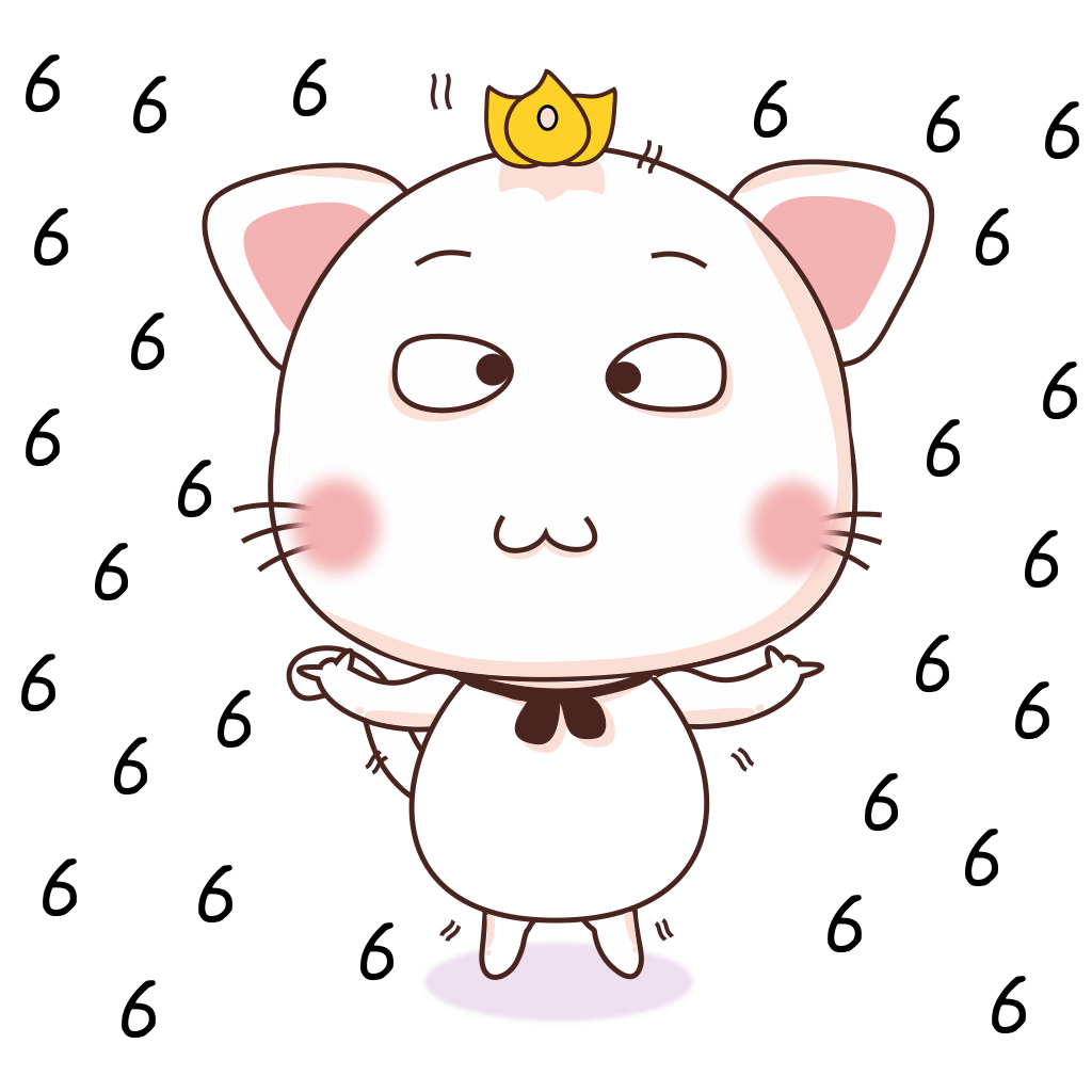 White Little Cat messages sticker-8
