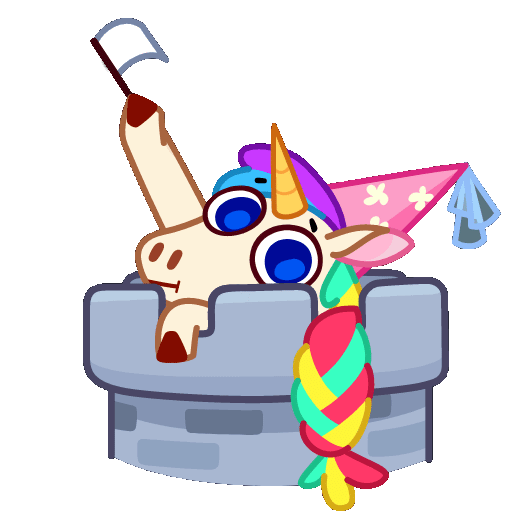 Unicorn Rainbow Animated messages sticker-9