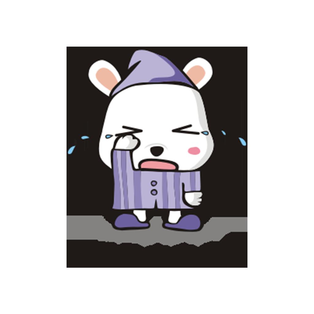 兔子凹凹 messages sticker-1