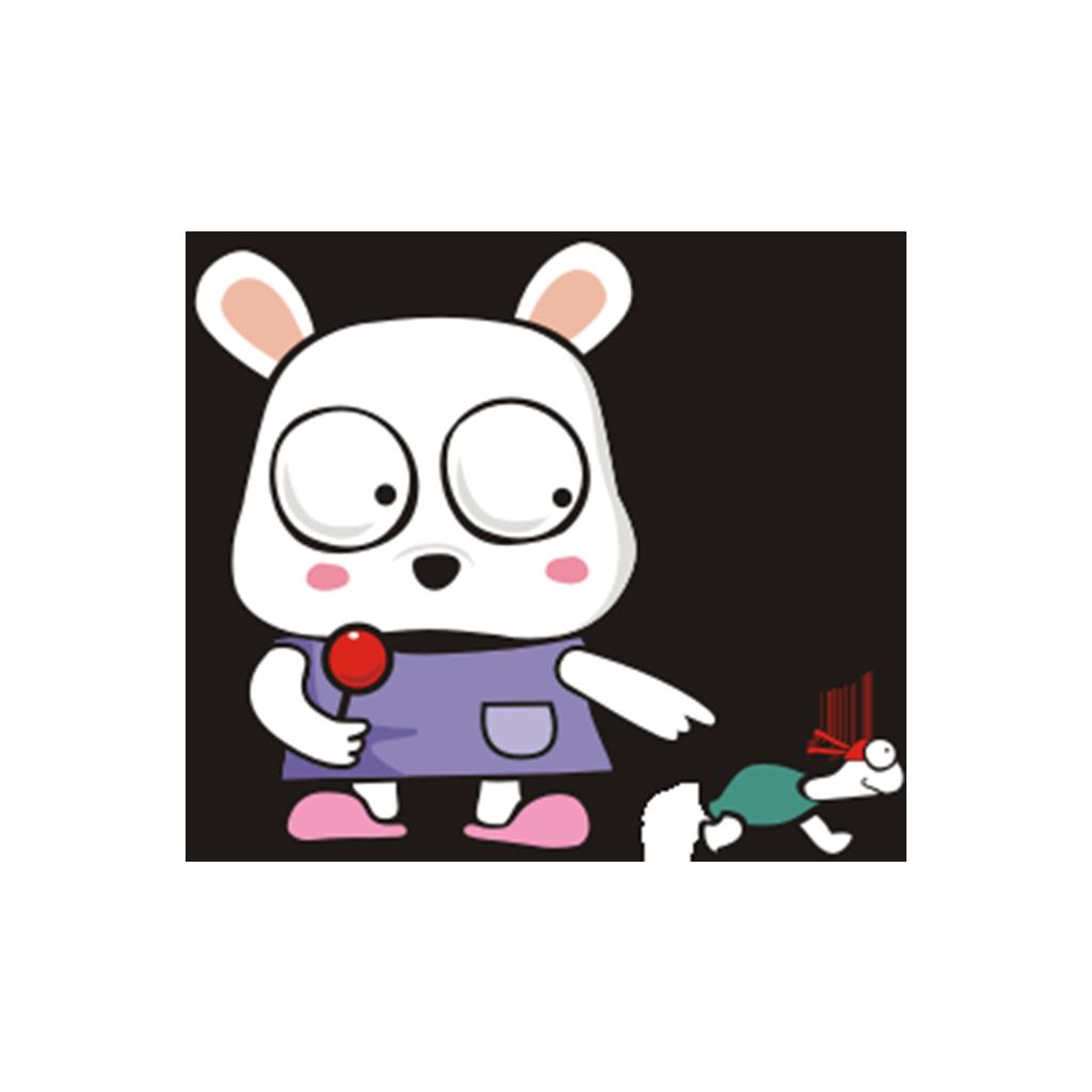 兔子凹凹 messages sticker-0